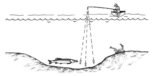 как ловить щуку на отвесную блесну